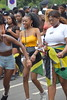 DSC_6985 Notting Hill Caribbean Carnival London Stunning Girls Yellow Braless Top with Shorts Aug 27 2018  Ladies Jamaican Flag (photographer695) Tags: notting hill caribbean carnival london exotic colourful girls dancing aug 27 2018 stunning ladies jamaican flag yellow braless top with shorts