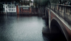 The bridge (Zara.B) Tags: intentionalcameramovement icm iphone impression riverbank river thames motionblur motion abstract painterly experimenting bridge