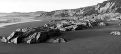 Rocky Beach Panorama _ bw (Joe Josephs: 3,166,284 views - thank you) Tags: california coastal coastline landscape landscapephotography pacificcoasthighway pacificocean shoreline travel travelphotography westcoast outdoors beach californialandscape panorama bw blackandwhite monochrome blackandwhitelandscape