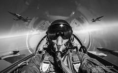 Grifos (sjpadron) Tags: grifos gac12 nikon nikond700 canadair northrop northropvf5b venezuela vf5b ambv aviation aviacion aircraft airplane formacion formation pilot piloto blancoynegro biplaza trainer entrenador
