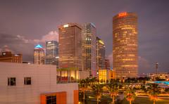 Tampa Skyline (ap0013) Tags: city cityscape skyline urban skyscraper tampa florida night longexposure tampaflorida fl fla summer