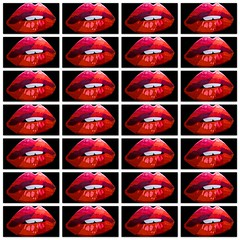 lipps inc. (pbo31) Tags: bayarea california nikon d810 september 2018 summer boury pbo31 collage lips lipps inc funky town red black kiss mouth female teeth fnnch art sanfrancisco northbeach pattern night club music mural color rouge rojo rot rosso rood vermelho röd littleitaly bite gloss