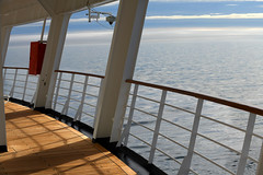 Views From The Deck (Anthony Mark Images) Tags: evening 3rddeck water ocean sea cloudy sunsetting cruiseship mseurodam hollandamericalines bow pretty lovely peaceful alaska usa 49thstate atsea nikon d850 deck shadows