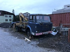 Ford D Series 1968 - KEB 143F (Paul.Bevan) Tags: ford truck classic vintage old dseries hiab chasiscab inverness wrecker recovery vehicle lorry 1960s keb143f rottingaway rusty scrap forgotten classicford blue poorstate needsrestoring missingparts