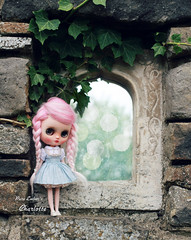 Girl in the mirror (pure_embers) Tags: pure embers middie blythe doll dolls photography uk laura england girl pureembers charlotte emberscharlotte pink alpaca candyfloss hair reroot plastic pretty cute magical magic mirror chu things