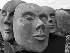 Faces (diarnst) Tags: kunst art skulptur sculpture stein stone panasonic gx80