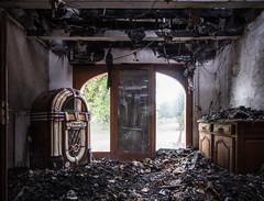 Burned house (the_bestiole) Tags: urbex exlporation urbaine urban decay abandoned lost place friche forgotten old lieux oubliés desaffecté abandonné ancien