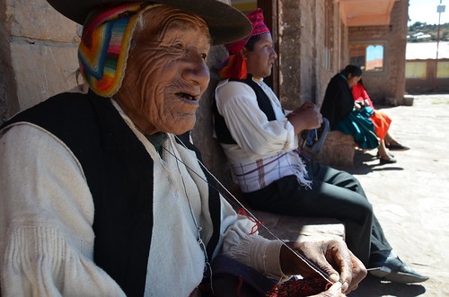 They said he was a hundred, Taquile, Lake Titicaca
