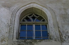 The Window and The Wall (majamacanovic) Tags: window windows wall architecture old building glass blue slovenia otocec frame