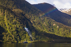 Rainbows (Matt Champlin) Tags: rain rainbow beautiful amazing incredible adventure boat boating cruise doubtful sound fjords canon 2018 travel winter mountains rainbows newzealand doubtfulsound waterfalls ocean water peace peaceful roadtrip camping hike hiking
