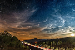 Mars vs Moon (benitoorion) Tags: cloudscape landscape nightscape starscape occitanie languedocroussillon lozere moon mars space universe astronomy astrophotography astrophoto chirac france fr