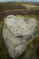 A stone with no name (AJ Mitchell) Tags: basin cupsandrings abris yorkshire england moor graffiti prehistory takumar m42 takumar1417