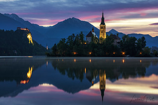 Lake Bled with St. Marys Church of Assumption