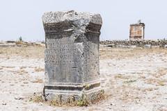 2018/07/09 12h39 stèle, Volubilis (Valéry Hugotte) Tags: 24105 antiquité maroc volubilis canon canon5d canon5dmarkiv pierre romain ruines socle stèle fèsmeknès ma
