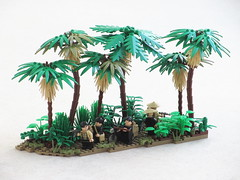 Moving supplies along the Ho Chi Minh Trail (Mad physicist) Tags: lego vietnam vietcong hochiminhtrail diorama vc charlie