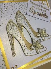 (crafty_r) Tags: card embossing wowpowder stilettos heels shoes birthday sparkle gold sparkelicious glitter stampsbychloe