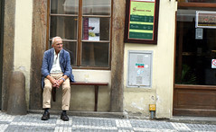 a wine guy (malias) Tags: prague old man wine drinking
