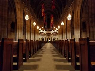 church hall.