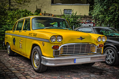CHECKER NYC TAXI (Peter's HDR hobby pictures) Tags: petershdrstudio hdr checker taxi nyc car classiccar yellow vehicle auto klassiker gelb oldtimer
