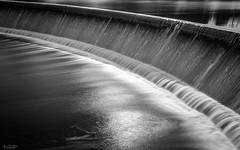 LeRoy Dam (59roadking - Jim Johnston) Tags: ifttt 500px creek dam water flow long exposure monochrome reflections