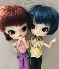 macie and ciel (angelwxngs) Tags: junplanning planning jun jp obitsu butler black blackbutler phantomhive cielphantomhive macie angry ciel doll dal