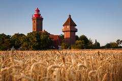 Leuchtturm (guidokpunkt) Tags: leuchtturm 2018 sonnenuntergang sonne wohlfühlen guidokpunkt lebensgefühl gold baum blauerhimmel sommer gebäude haus natur himmer lifestyle deutschland korn feld ostsee