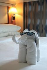 Towel Elephant (haberlea) Tags: cruise jewleoftheseas ship room bed towels elephant