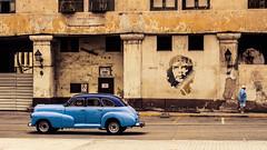Havanna (gies777) Tags: kuba cuba havanna havana habana lahabana auto oldtimer uscar olympus omd em5 mft reise travel vacation che guevara cheguevara blau blue azul