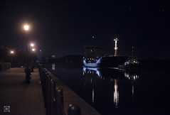Havva Ana, The Ghostly One. (alundisleyimages@gmail.com) Tags: ship tug shipping industry night weather promenade canal manchestershipcanal transport goods exportimport england cheshire uk lights ports harbours