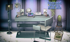 crate Ones and Zeroes Desk @ Equal10 (crate.) Tags: decor desk chair laptop globe mediasystem speakers crate