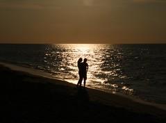 Love on the beach (JanJGorter) Tags: horizon holland nederland zeeland canonseos750d canon zonsondergangen zonsondergang sunsets sunset sand loveis love shore sea zee strand beach renesse