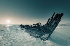 DSC2364-enfuse000099L (Tanel Kindsigo) Tags: loksa raketa abandonedship ghostship ice outdoor ship sky sun sunset winter wreck