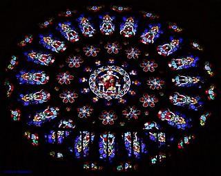 Rosetón de la Catedral de Mondoñedo, Galicia, España.