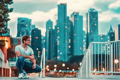 skyline (ArminAreMean) Tags: navypier pier navy chicago skyline sky skyscrapers city teal portrait outdoors lake