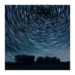 Combestone Tor Trails (Andi Campbell-Jones) Tags: andi andicampbelljonescom campbelljones photography dartmoor star trails combstone tor night shot