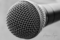 Finding A Voice (Rebecca Leyva) Tags: basic metal texture closeup monochrome simplicity simple voices music microphone blackandwhite bw stilllife
