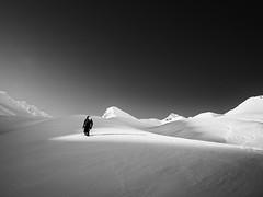 Ascending (2) (S_Peter) Tags: caucasus georgia georgien sakartvelo winter gudauri snow ski touring skitouren leica m246 monochrom heliopan orange filter voigtlander voigtländer f18 21mm ultron