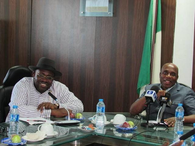 HSDickson-  Bayelsa state governor, Seriake Dickson Visits The Minister Of Transportation, Chibuike Amaechi.