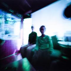 The Watchers (george.bremer) Tags: 6x6mk2 colorful couple disturbing film lomochromepurple lomography longexposure ondu opticfilm120 people pinhole summer vignette vuescan watching