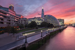 Amazing sunset in London - Christine Phillips (Christine's Phillips (Christine's observations) - ) Tags: london sunset dramaticsky skyline horizontal nopeople beautiful businessandfinance sunrise christinephillips