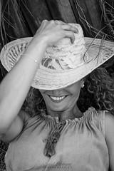 Malika (DavidLabasque) Tags: model girl fille femme female modèle france french française paris chapeau hat sourire mile face visage portrait noiretblanc noir blanc nb blackandwhite black white bw monochrome canon eos 6d 50mm 2018 teen glamour mode