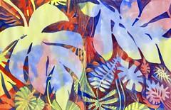 Philodenren Phantasy - QoR Watercolor in a Hahnemühle Grey Book (molossus, who says Life Imitates Doodles) Tags: review tonedpaper watercolor