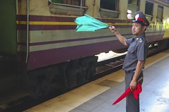 Station Master (Amsterdam Today) Tags: thailand trang railway station public transport train master 13 february 2014 south backpack easy live andaman sea thap thiang city april 1913 express