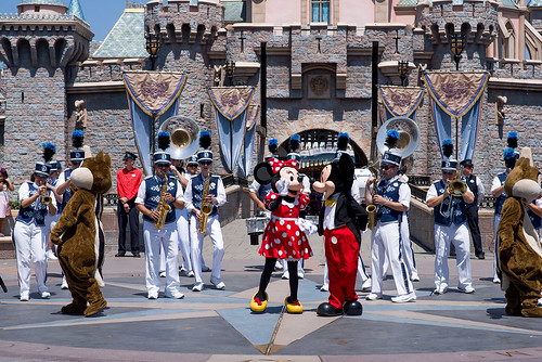 Disney characters and the Disneyland Band