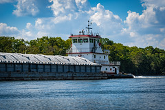 Man-made stuff on the Cumberland River-16 (mmulliniks) Tags: sony alpha a73 a7iii 24105 river water sky clouds landscape explore boat barge industry bridge waves hills wide outside nashville cumberland metabones sigma zeiss prime zoom