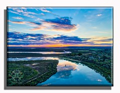 Cannons Creek (Thunder1203) Tags: aerialphotography aurorahdr australia cityofcasey djiphantom4advanced quadcopter sunset victoria water westernportbay cannonscreek dronelife dronephotography fromabove hdr moored panoramic photomatix reflection sky topdrone