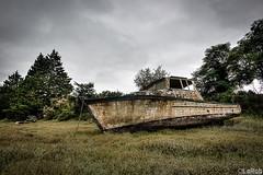 .. (LaR0b) Tags: abandoned lar0b lost hdr highdynamicrange boat ship shipwreck bateau water leau rusty rust schip boot