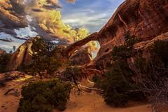 Double O Arch Sundown (McKendrickPhotography.com) Tags: archesnationalpark utah sandstone sunset moab