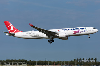 TC-LNC Turkish Airlines Airbus A330-303 300th aircraft sticker (AMS - EHAM - Amsterdam Schiphol)