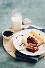 dolce di ricotta gluten free (Laura Adani) Tags: baked cake cuisine delicious dessert glutenfree homemade horizontal jam nobody ricottacheese slice stilllife sweet vertical